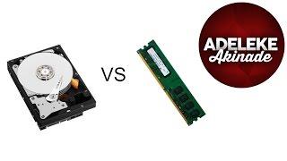 RAM Memory VS Hard Drive Memory