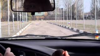 Урок вождения на автодроме. Автошкола ЗГОУКК