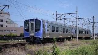 阿武隈急行 梁川駅から車庫に入るAB900