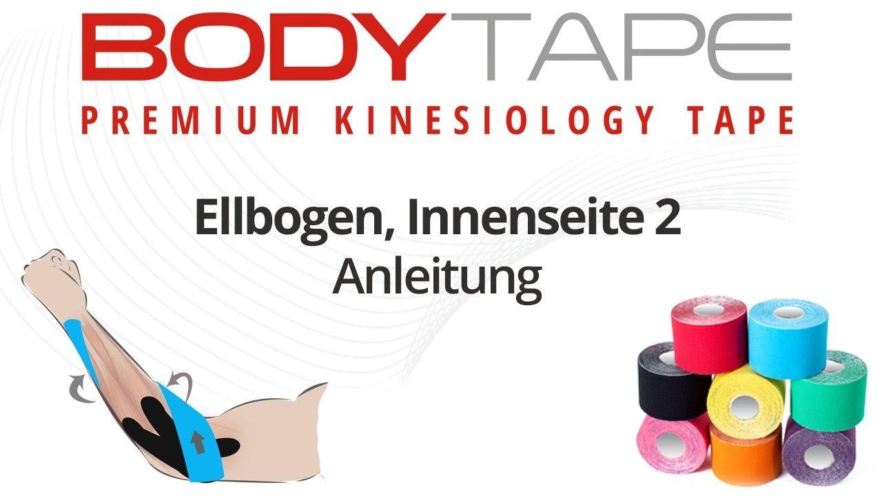 Kinesiology Tape Anleitung: Ellbogen, Innenseite - YouTube on