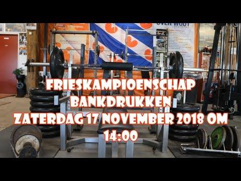 Fries Kampioenschap Bankdrukken 2018 Te Folsgare.