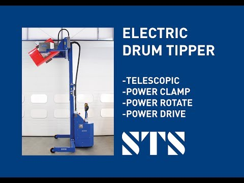 Telescopic Fully-Powered Drum Clamping And Tipping Unit (Model: STE06-RRH01)