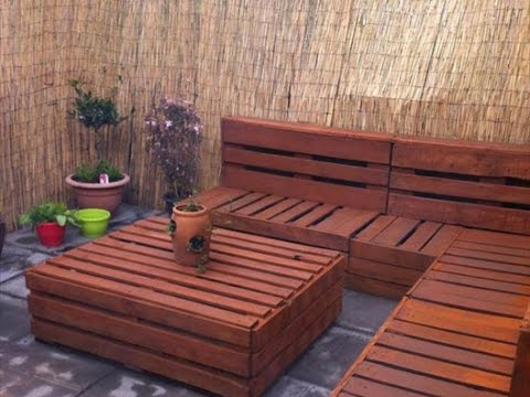Diy Ideas Garden Furniture Made From Old Pallets Youtube