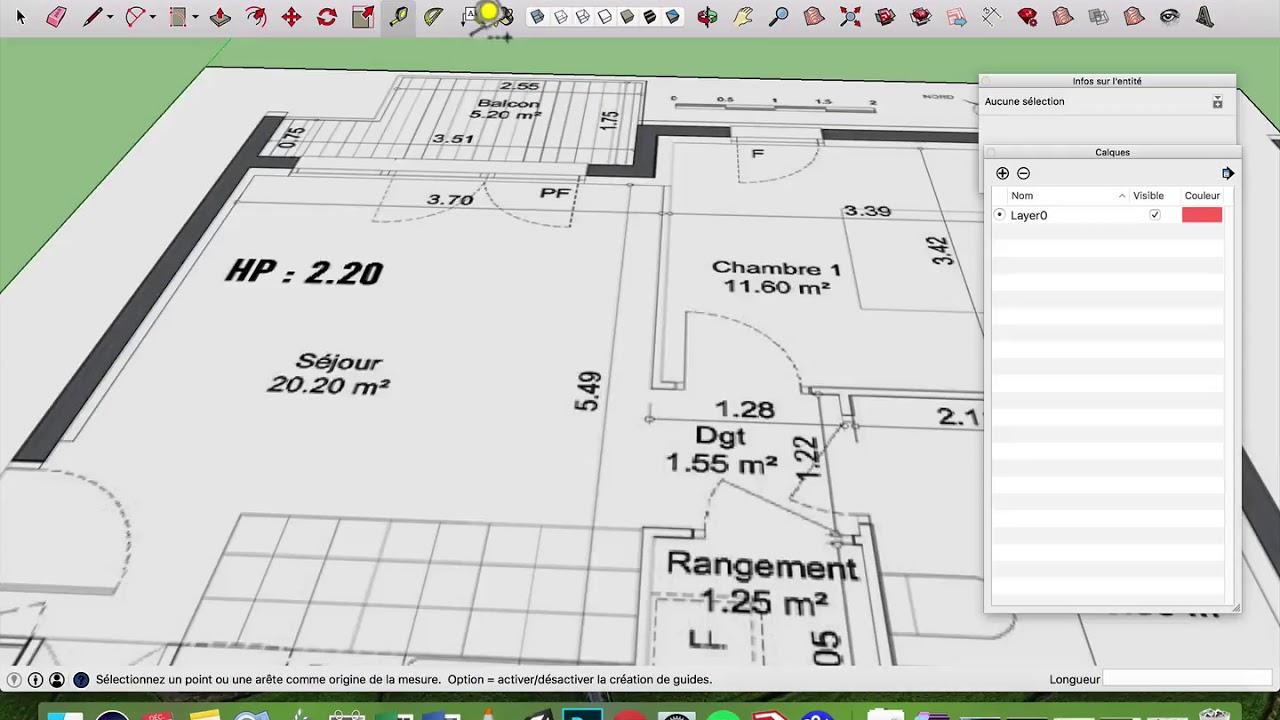 faire un plan d'appartement avec sketchup