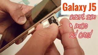 Samsung Galaxy J5 2017 Insert Sim Card & Micro SD Card