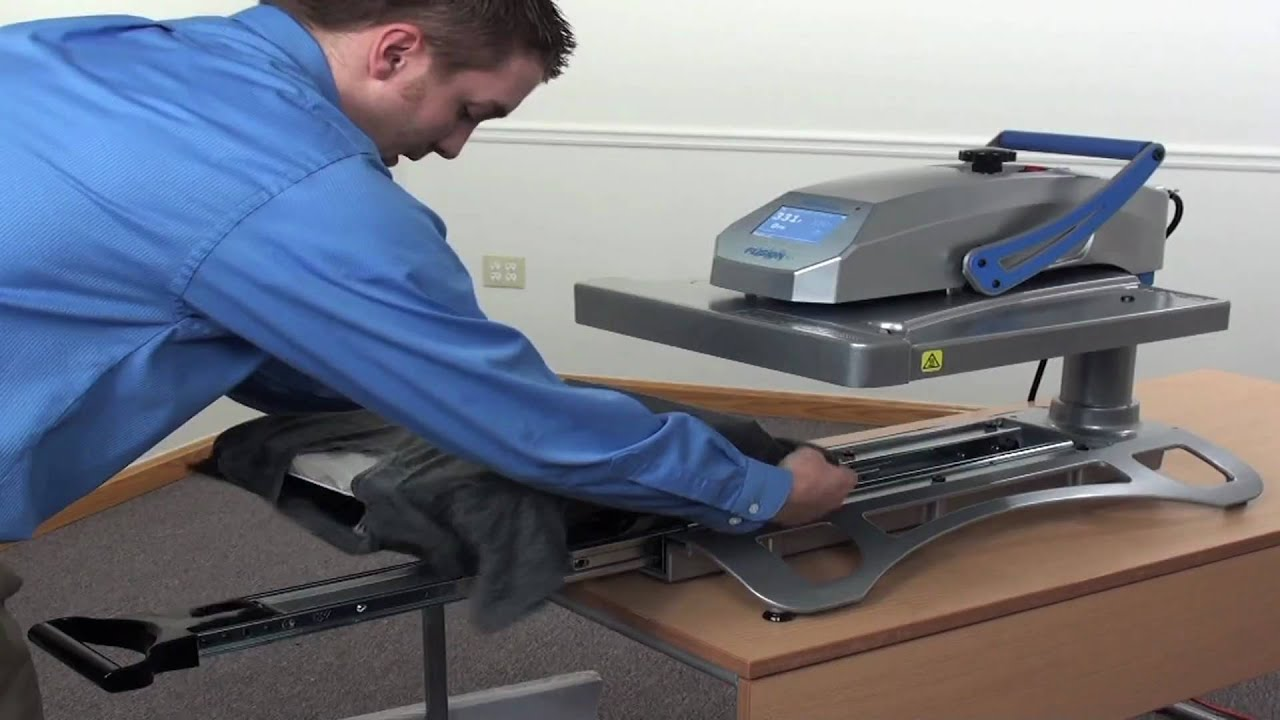 Hotronix 174 Fusion Heat Press Demonstration Youtube