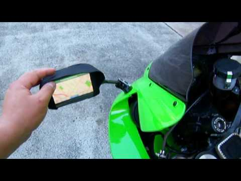 Garmin Gps Watch >> How to Adapt / Mount A Car GPS to a Motorcycle - YouTube