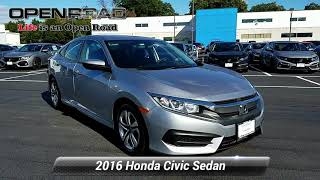 Certified 2016 Honda Civic Sedan LX, Edison, NJ 11057P