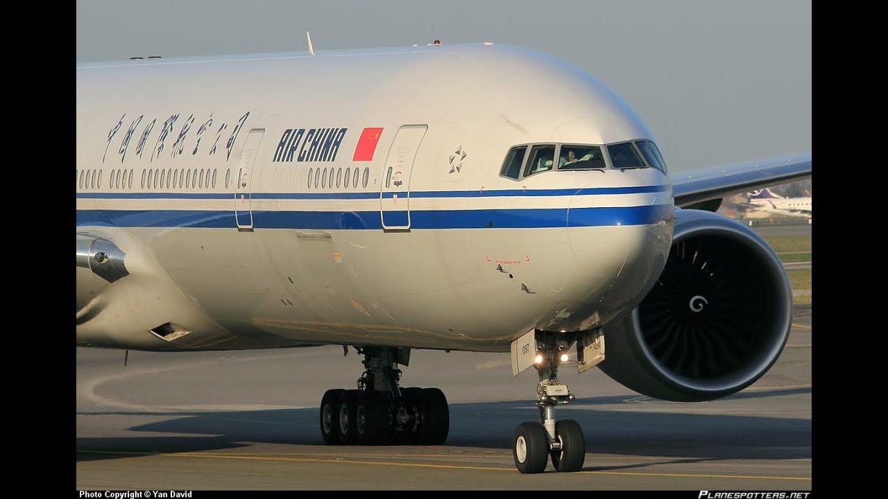 air china 777 300er ge90 115b engine start loud sound youtube. Black Bedroom Furniture Sets. Home Design Ideas