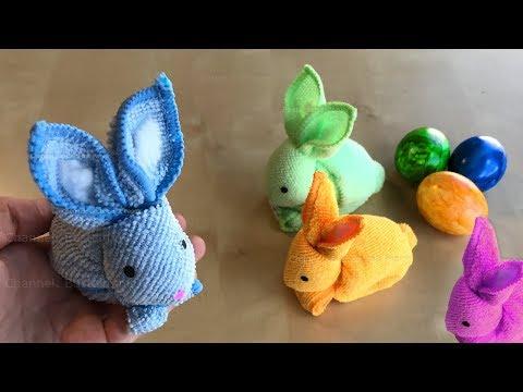 Geschenke selber machen: Hasen basteln mit Papier & Handtuch. Geschenkideen und Bastelideen