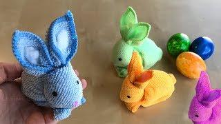 Ostergeschenke selber machen: Osterhase basteln Ostern mit Papier & Handtuch. DIY Osterdeko