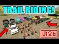FARMING SIMULATOR 2017   PICKING OUT BRAND NEW ATV, DIRTBIKE, TRUCK AND TRAILER   TRAIL RIDING!