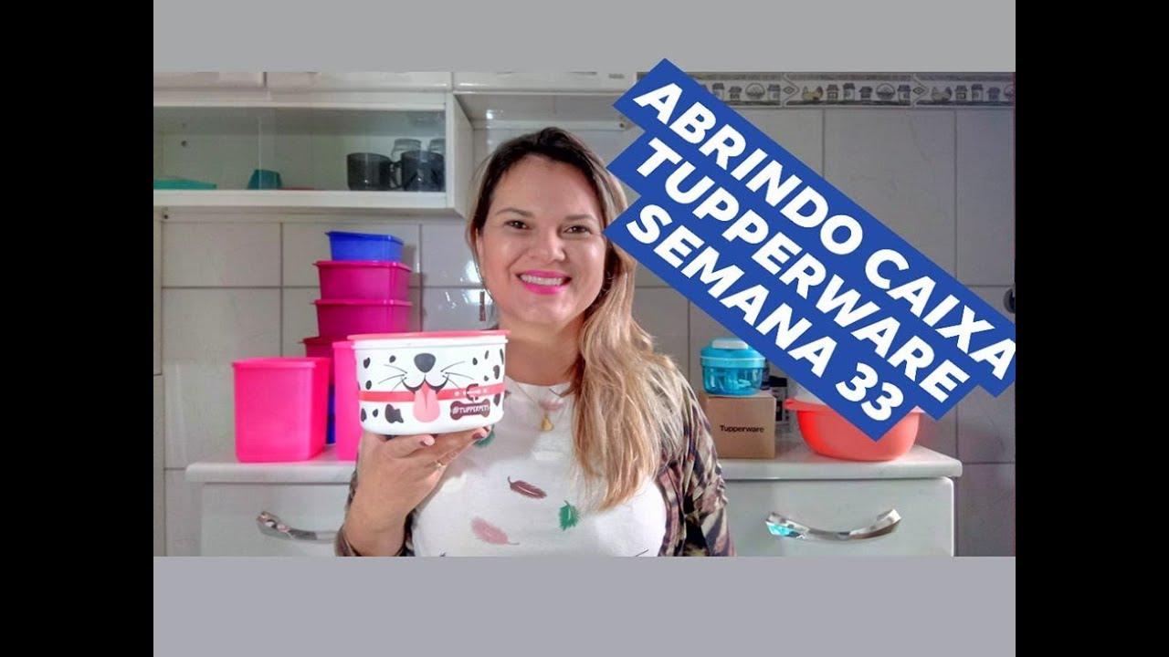 Abrindo Caixa Tupperware Semana 33 Vitrine 9 19 Youtube