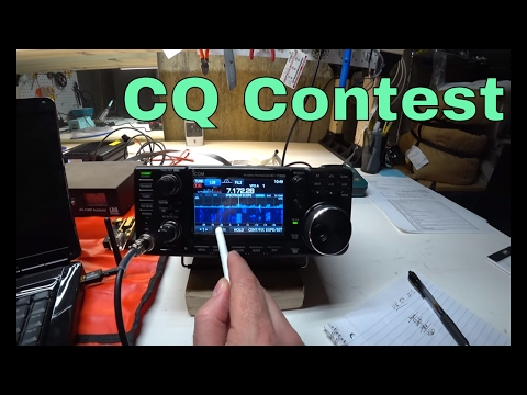 ICOM IC-7300 Ham Radio Contesting using MP1 Super Antenna