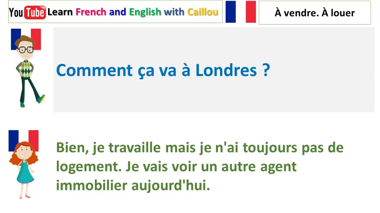 Dialogue En Francais Pour Debutant 85 Youtube