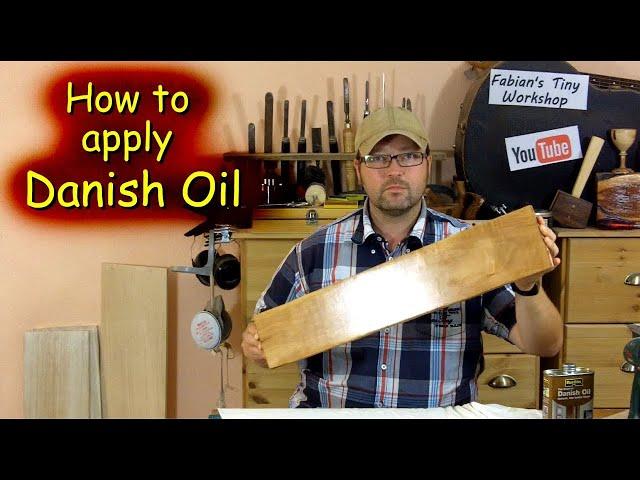 How to apply Danish Oil - YouTube