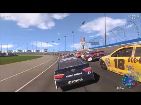 NASCAR Heat Evolution - Auto Club Speedway of California Gameplay (PC HD) [1080p60FPS]