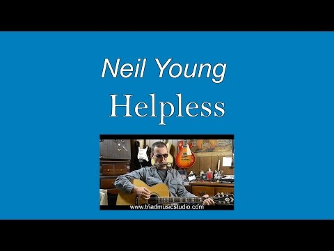 Neil Young - Helpless with Lyrics & Chords - Easy Guitar for Beginners - C87