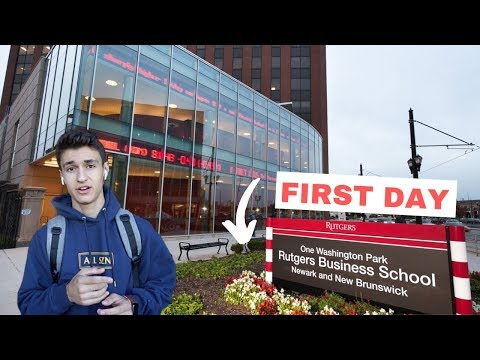 First Day At Rutgers University