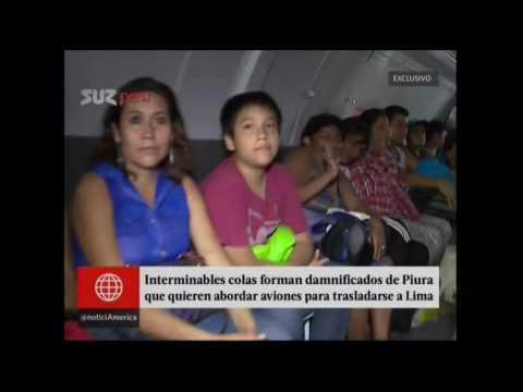 America Noticias Desborde Rio Piura (29 Marzo 2017)