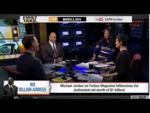 ESPN First Take   Michael Jordan on Forbes Magazine Billionaires List
