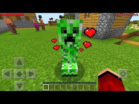 How to Tame Friendly Creepers in Minecraft Pocket Edition! (Cake Mode Addon)
