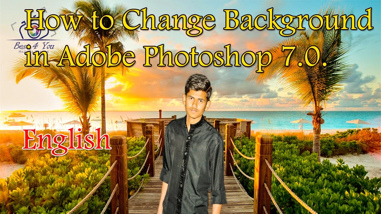 How to change picture background in adobe photoshop 7.0