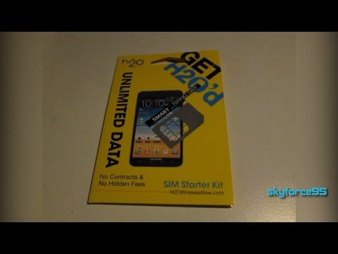 H2O Wireless SIM Unboxing/Overview