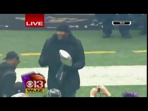 Ravens Ray Lewis Dances For Final Time At Victory Parade