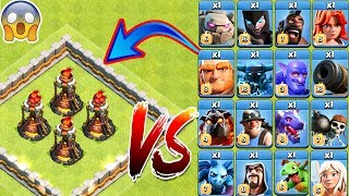 4x Inferno Tower vs All Troops Clash of Clans | Max Inferno Tower vs every single Troop COC