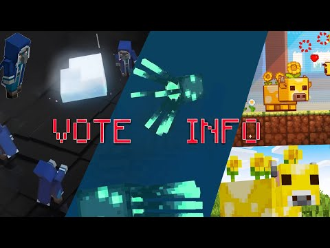 ALL INFO of MINECON VOTE MOBS! (Moobloom, Iceologer, Glowsquid) - Full Analysis