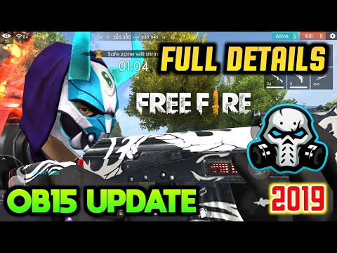 FREEFIRE OB15 UPDATE WITH NEW CHARACTER , FREE WEAPONS SKIN , EMOTES AND MUCH MORE THINGS DETAILS 🔥
