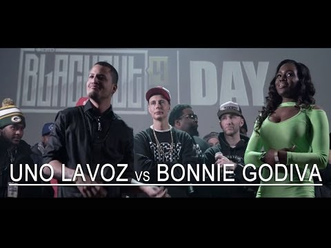 KOTD - Rap Battle - Uno Lavoz vs Bonnie Godiva