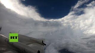 Así es el ojo del huracán Florence desde dentro