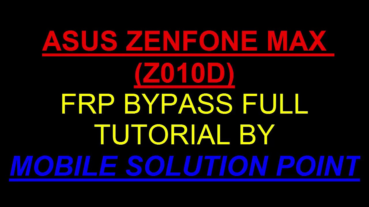 ASUS ZENFONE MAX (Z010D) FRP (Google Account) Lock BYPASS DONE Without PC  ANDROID 6 0 1