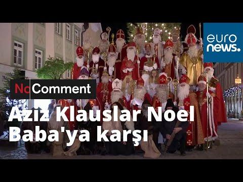 Almanya'da Aziz Klauslar Noel Baba'ya karşı