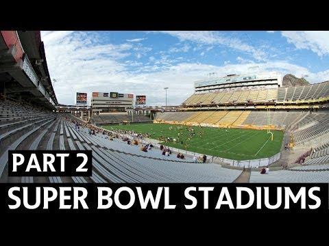 NFL Superbowl History  - Venues (Part 2)