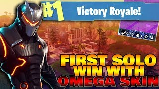 FIRST WIN WITH MY *NEW* OMEGA SKIN - Fortnite Battle Royal (HIGH KILL GAME!)