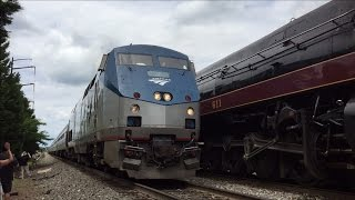 Amtrak HD RARE: GE P42DC #2 w/ Train 156 Stealing N&W 611