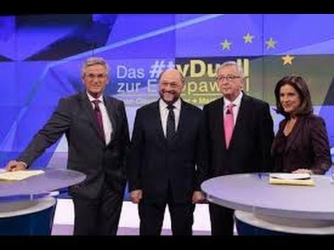 ZDF TV Duell Europawahl 2014 Martin Schulz Jean-Claude Juncker