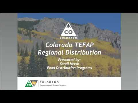 TEFAP Resource Allocation: Responding to Changing Needs within Your State