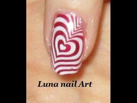 Nail art Saint-Valentin - YouTube