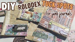 Rolodex Tuck Spots for Junk Journals  / DIY Embellishments | I'm A Cool Mom