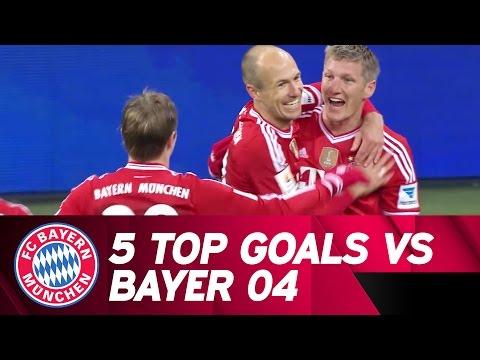 5 Top Goals - FC Bayern vs Bayer Leverkusen