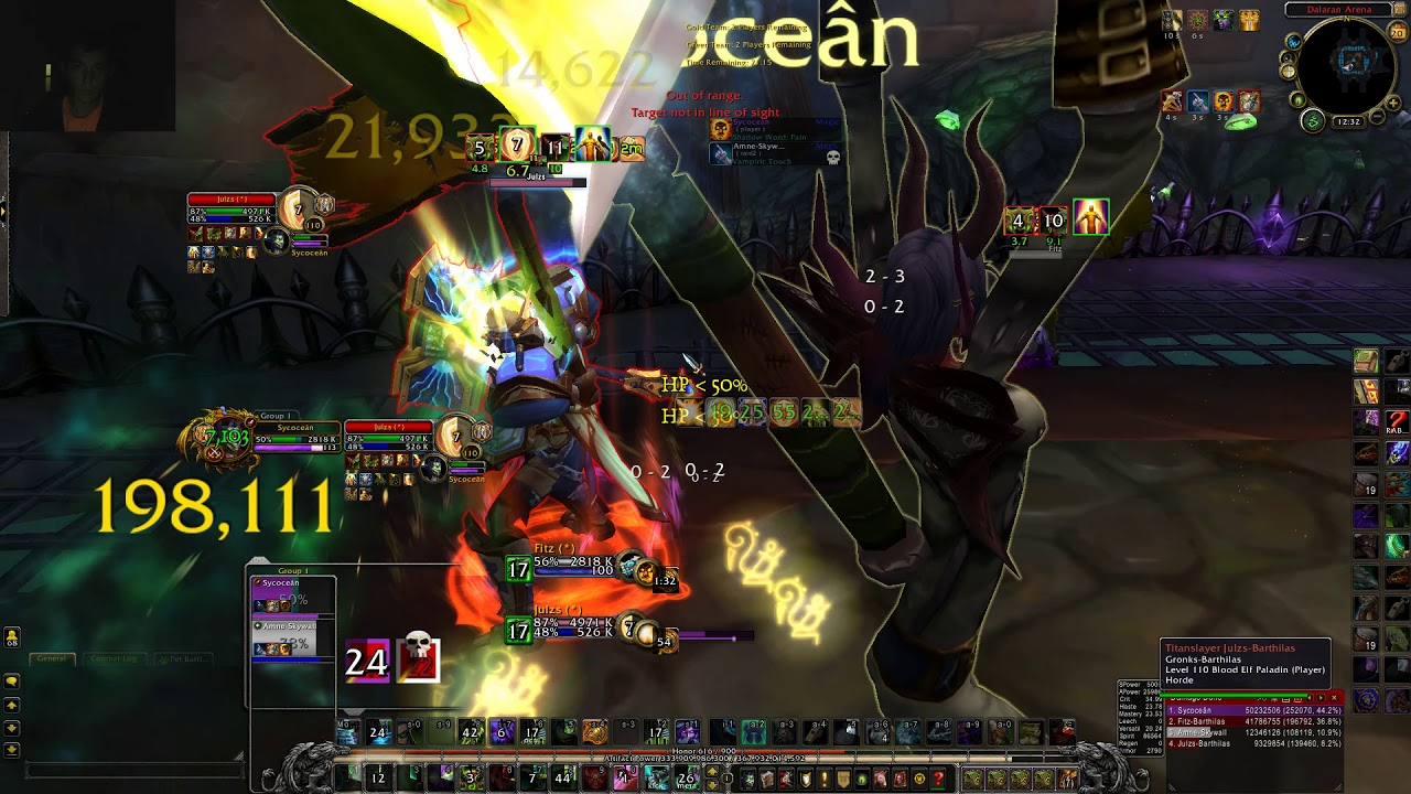 Gladiator Amne Disc Priest Rival Sycocean Demon Hunter Rated Arena