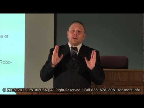 Robo-Signer Presentation & Foreclosure Defense - Part3