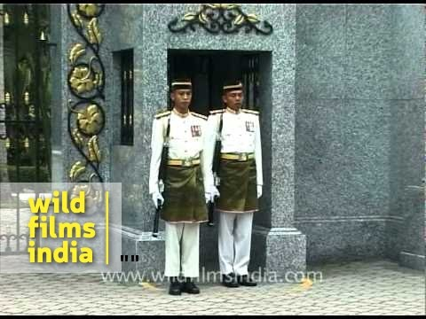 Change of guard at Istana Negara - Malaysia's  Royal Palace
