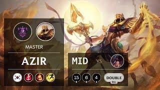 Azir Mid vs Akali - KR Master Patch 9.22