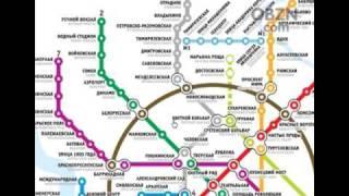 Moscow metro map staiton