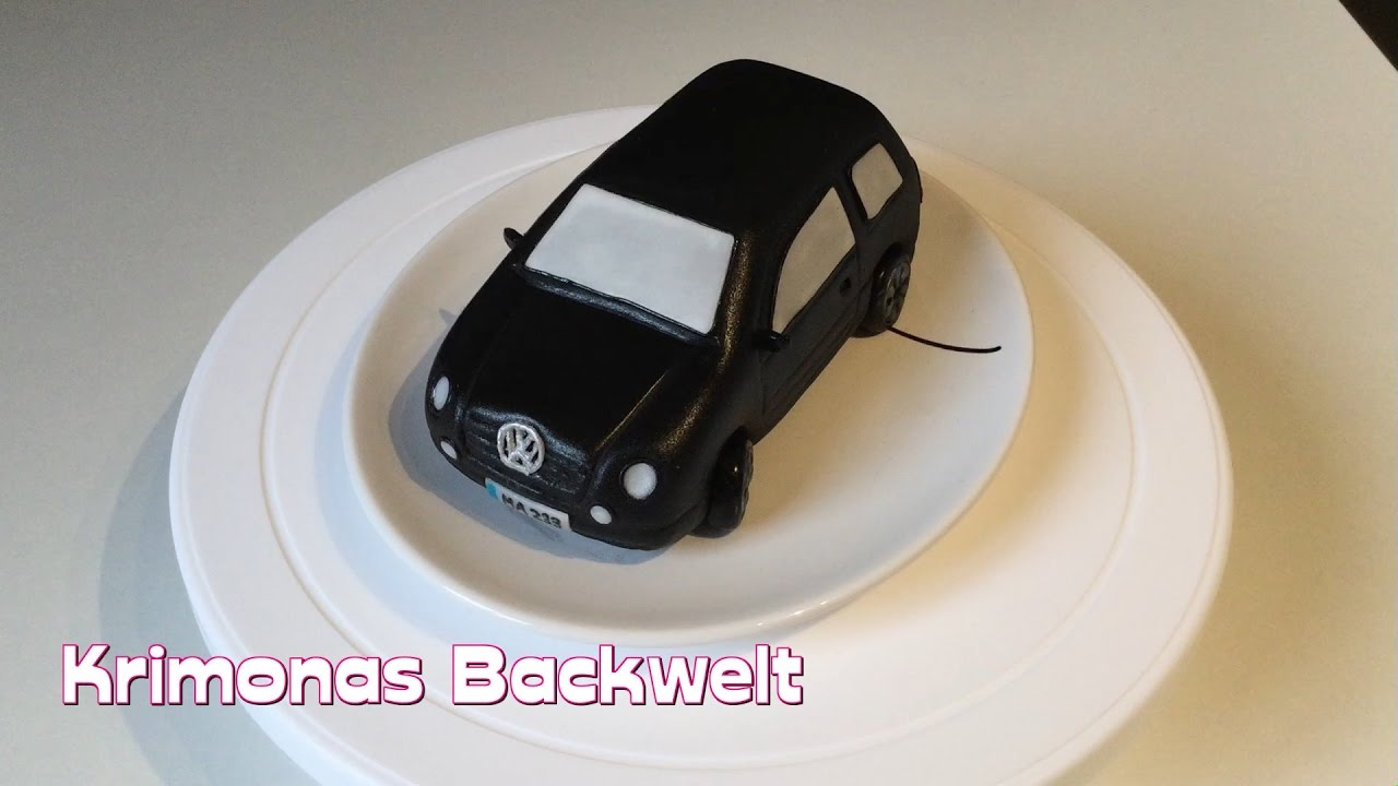 mini vw auto fondant torte mini vw car fondant cake. Black Bedroom Furniture Sets. Home Design Ideas